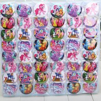 button badge - 4 cm My Little Pony Badges cartoon fashion Button Pin badge kids Clothing Accessories set of