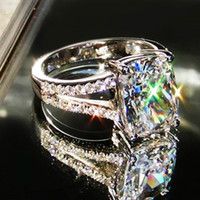 genuine diamond ring - selling genuine sterling silver jewelry retro synthetic diamonds ct SONA outstanding female Engagement Ring