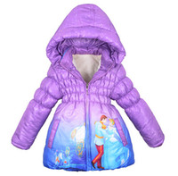 Wholesale New High quality Retail Boys Girls children s Winter Cinderella Coat down jacket Baby kids ippingJackets outerwear thickening coats free sh