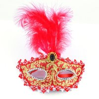 Wholesale Hot Sale Feather Mask Eye Mask For Masquerade Cosplay Costume Party Dress Costume Promotion