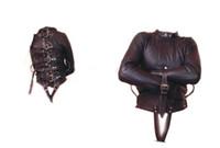 Wholesale Black Soft PU Leather Adjustable Restraint Straitjacket Fetish Bondage sex toys
