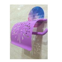 Wholesale New Bathroom Accessories Toilet Tissue Holder Wall Mount Sticker Paper Holders order lt no track