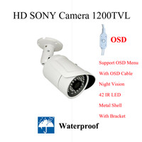 Wholesale 2015 New product waterproof camera SONY CMOS camera TVL OSD outdoor bracket CCTV camera IR LED security camera