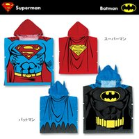 Wholesale Exclusive sale super hero series superman Batman modelling bath towel Children s cartoon cotton hooded bath robe