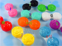 Wholesale New Style Double Box Roses Contact Lens Box Lenses Partner Contact Lenses Box With High Quality