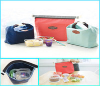 Wholesale Waterproof Picnic Canvas Handbags Multifunctional Lunch Milk Bags Thermal Insulated ice Cooler Bags Travel Brunch Bags in Bags