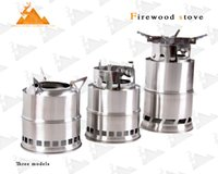 Under 2 Pounds camping stove - Rover Camel Wood Stove Outdoor Stainless Steel Gas Stove Portable Folding Camping Stove