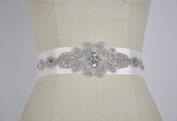 Wholesale Clear crystal beaded Bridal Sashes wedding dresses belts wedding accessory TB048