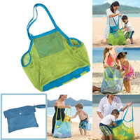 Wholesale 2015 retail Kids EXTRA LARGE SAND AWAY BEACH MESH BAG TOTE For Sand Box Castle Toys Beach Balls