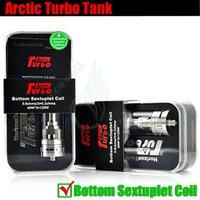 Original Ártico Turbo Tank Horizonte bobina séxtuple Sub Ohm Top Mods de turbinas de vapor RDA v SMOK TFV4 Mini -Bueno corona ecig vaporizador atomizador