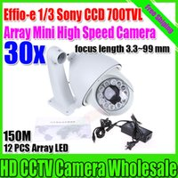 Wholesale Effio e TVL Sony outdoor x IR Auto tracking High speed dome camera x ptz camera mm cctv camera with Bracket