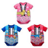 anpanman clothes - Baby Bodysuits Newborn Jumpsuits Boy Girl Summer Baby Clothing Jumpsuit Cotton short sleeve triangle Anpanman Onesie body bebe
