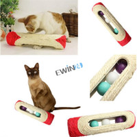 Wholesale Brand New Pet Cat Kitten Kitty Toy Long Rolling Sisal Scratching Scratch Post Trapped Ball