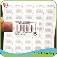 Wholesale Customized Waterproof roll printing logo name labels fancy cheap custom paper barcode label sticker