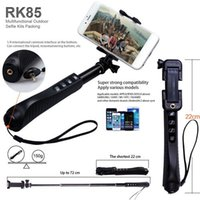 aluminium monopod - RK85E Aluminium Alloy in Foldable Handheld Bluetooth Selfie Stick RK85 E Shutter zoom Bluetooth Monopod Self Timer For cell phone camera