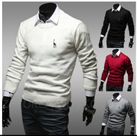 Wholesale Brand Men s Sweater Men s Casual fashion Long sleeve Deer Embroidery Sweater Sport O neck Pullovers Sweater