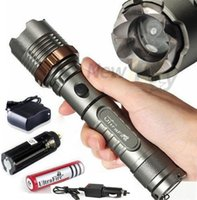 Wholesale DHL EMS LM UltraFire CREE XML T6 LED Rechargeable Flashlight Torch w AC Car Charger Battery