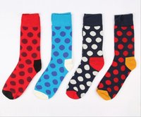 Cheap 2015 men Happy socks style fashion polka dot socks men's casual socks high quality free ship