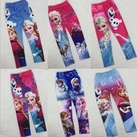 childrens leggings - Foreign Trade Hot Sale New Collection Childrens Leggings Girls Kids Fashion Frozen Spring Summer Pants Baby Girls Temperament Pants