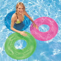 Wholesale Fluorescent PVC Adult Swimming Ring Life Buoy Green