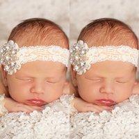 Wholesale new Arrival Baby Newborn wristlet Headband Set Lace and Blink rhinestones Swarovski Cute Infant Headband