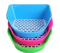Wholesale Cage supply accessories small pets rabbit hamster plastic toilet color random w3036