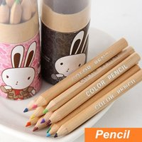 Wholesale 72 in case Color wood pencil for kid Gift package colored pencils for drawing stationary office school supplies