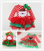 Wholesale Girl Christmas Lace Dresses Santa Claus series Point Red Long Short sleeve dress Kids Clothes baby girl dressess design for choose