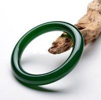 nature green jade bracelet - AAAAA NATURE GRADE LIGHT HETIAN JADE GREEN JADE JADEITE BRACELET