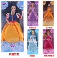 barbies dolls - 2015 New Barbie Princess Cinderella Snow White The Sleep Beauty Angled Belle cm Plush Doll Toys Birthday Christmas Gift S0140142