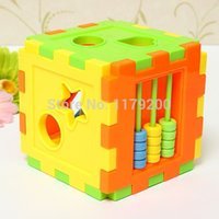 Wholesale Hot sale Colorful Plastic Blocks Matching Sorting Baby Educational Geometry Shape Toys Intelligence Training Box For children Kids