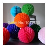 aqua paper lanterns - Party tissue Honeycomb Balls Wedding Kids Birthday Decoration Decorative Flowers Paper Lantern cm inch dark green aqua