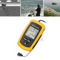 Wholesale Portable Sonar LCD Fish depth Finder Alarm M AP Through Ice fishing iure ice Sonar fishing finder PFF01O order lt no tracking