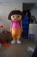 Wholesale Hot Sale Lovely Girl Dora Mascot Costume Pink Cartoon Character Costume High Quality Costume For Sale