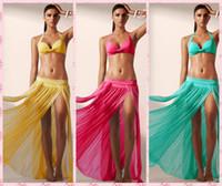 Cheap New 2015 2016 Fashion Swimwear Bikini Beach Cover Up Skirt Women Beach Skirt Swim Cover Up Beachwear,Women Beach Wear 5 Colors