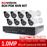 Wholesale 8Ch CCTV System P PoE NVR Motion Detection Recording MP IR Outdoor Waterproof IR IP CCTV Security Camera System NVR Kits