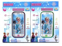 Wholesale Talking English Language Frozen phone Toys Theme music Brinquedos Mobile Baby Phone Toys for children Birthday party Gift
