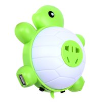 abs turtles - 2015 new Turtle LED Nightlights Double Usb Five Pin Plug Charging lamp Charging Led Sound And Light Control Lights Sleep Lamp