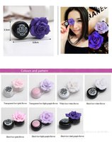 fashion contact lenses - Hot New Design Colors Lovely Flower Contact Lens Case Fashion Contact Lens Holder Box