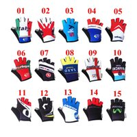 finger bike - Tour de France Teams Edition SKY giant tinkoff bicycle Cycling Gloves guantes ciclismo mtb half finger Racing road bike gloves styles