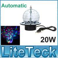 Gros-UE / US Plug KTV Club Bar Mini Rotating LED RGB Crystal Ball Effet Magique Lumière Disco DJ Stade entreprises Éclairage AC220V
