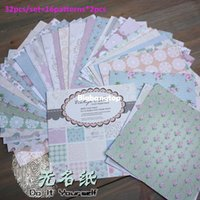 Wholesale 1509 New Arrival DIY Photo Album Photo Scrapbooking Linen Papers with Vintage Charm in x in Single Side Printed Set