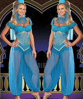 arabic party theme - New Halloween Arabic Costume Women Latin Dance Acting Party Costume Theme Costume Cosplay Sexy Uniform High Quality
