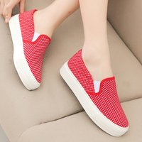 ladies shoes low price - Best selling low price hot sale three color fashion classic casual canvas flat bottom low cut shoes new style fashion ladies s