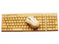 bamboo computer mouse - Waterproof Wooden Life Handmade Bluetooth Wireless Bamboo Keyboard Keypad Wireless Mouse Sets for Computer Christmas Gift