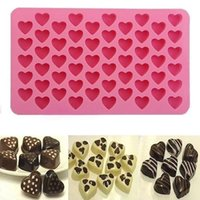 Wholesale 55 Hearts Silicone Ice Cube Chocolate Cake Cookie Cupcake Soap Molds Mould Tool TY1706