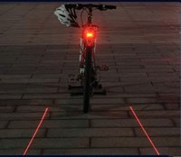 Wholesale Bike Bicycle Tail Rear LED Laser Light Lamp Safe Cycling With Two Laser LED Lines Laser plus LED Lights