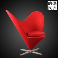 Wholesale Personalized heart shaped chair IKEA sofa modern minimalist living room recliner chair art photography single sofa recliner