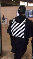Cheap Fall-2015 Rare new US hip hop kanye west OFF WHITE stripe 13 unisex men oversized windbreaker sun proof light weight jacket s to XL
