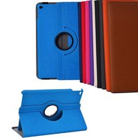 Wholesale For Apple iPad iPad Air Case Denim Print Degree Rotation Stand Leather Flip Cover with Card Slots DHL EMS Freeshipping